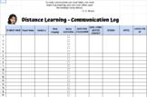 Distance Learning Communication Log