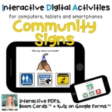 Digital ⋅ Community Signs ⋅ Interactive PDFs, Boom Cards,