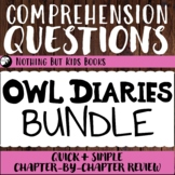 Distance Learning Comprehension Questions Bundle   Owl Diaries