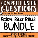 Distance Learning Comprehension Questions Bundle | Roscoe Riley Rules
