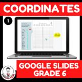 Distance Learning Coordinates Google Slides Online 3-6 Grade
