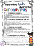 Distance Learning:  Coronavirus Flier and Sample Schedule