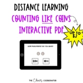 Distance Learning- Counting Like Coins Interactive PDFs