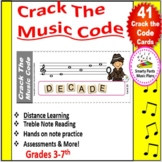Distance Learning Crack The Music Code Game {& Treble Note