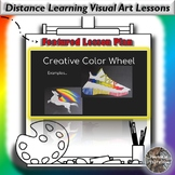 Distance Learning Creative Color Wheel Visual Art Lesson Plan