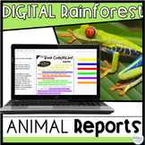 Distance Learning Google Classroom Rainforest Animal Research Project