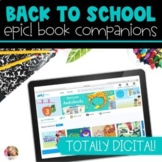 Distance Learning DIGITAL Back to School Book Companions f