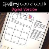 Distance Learning DIGITAL Spelling Word Work