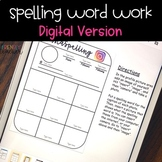 Distance Learning DIGITAL Spelling Word Work
