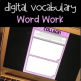 Distance Learning DIGITAL Word Work for Upper Elementary