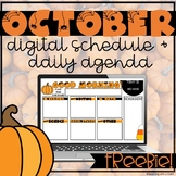 Distance Learning Daily Digital Agenda & Schedule Template