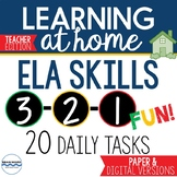 Distance Learning Daily ELA Skills Practice Pages Remote L