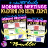 Distance Learning Daily Morning Meeting PowerPoint + Journ