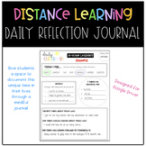 Distance Learning Daily Reflection Journals for Students