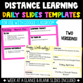 Distance Learning Daily Slides Template