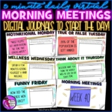 Distance Learning Daily Virtual Morning Meeting Messages J