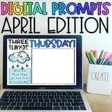 Distance Learning Daily Writing Prompts for April