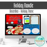 Distance Learning December Christmas Holiday Activity Bund