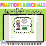 Google Classroom DISTANCE LEARNING Decimals and Fractions Quizzes