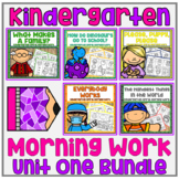 Distance Learning Differentiated Kindergarten Morning Work