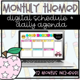 Distance Learning Schedule Templates | Google Slides | Mon