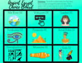 Distance Learning: Digital Ancient Egypt Choice Board Menu