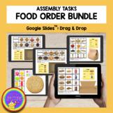 Distance Learning - Digital Food Order Bundle: Google Slid