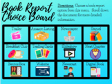 Distance Learning: Digital Book Report Choice Board Menu