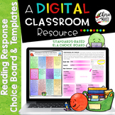 Distance Learning Digital Choice Board & Templates for Res