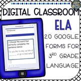 Distance Learning Digital Classroom 3rd Grade ELA Language