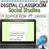 Distance Learning Digital Classroom 4 Social Studies Topics
