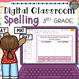 Distance Learning Digital Classroom Third Grade Spelling