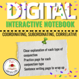 Distance Learning Digital Conjunctions Notebook