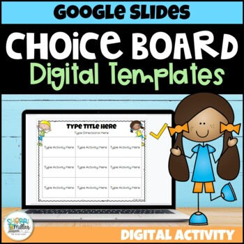 Distance Learning: Digital Editable Choice Boards FREEBIE for Google Classroom