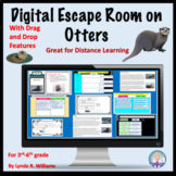 Distance Learning Digital Escape Room and Reading Unit on Otters