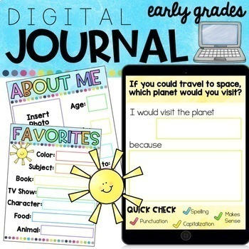 Distance Learning: Digital Journal for Early Grades   Differentiated