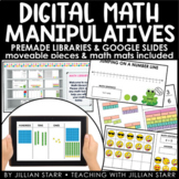 Digital Math Manipulatives & Math Mats | Google Slides Ready | Distance Learning