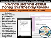 Distance Learning Digital Money (Coins) & Telling Time 12