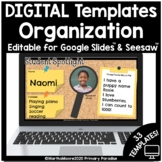 Distance Learning Digital Organization Templates for Googl