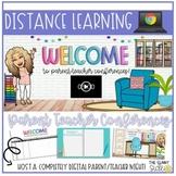 Distance Learning | Digital Parent Teacher Conference Google Slides | Bitmoji Ed