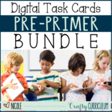 Distance Learning Digital Pre-Primer Sight Word GROWING Bundle