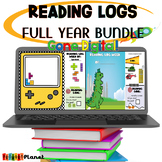 Digital Reading Logs | Distance Learning  | Full Year Bundle!