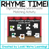 DISTANCE LEARNING - Digital Rhyming Words Puzzle Matching: