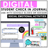 Digital Student Check In Journal   Social Emotional Learning