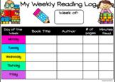 Distance Learning | Digital Weekly Reading Log in Google Slides