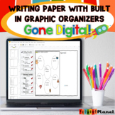 Distance Learning: Digital Writing Paper | Graphic Organiz