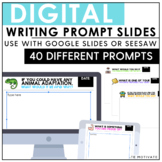 Distance Learning Digital Writing Prompt Slides | Google C
