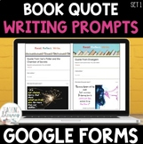 Digital Writing Prompts Google Forms SET 1 Distance Learning