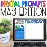 Distance Learning Digital Writing Prompts for May