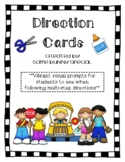 Distance Learning Direction Cards
